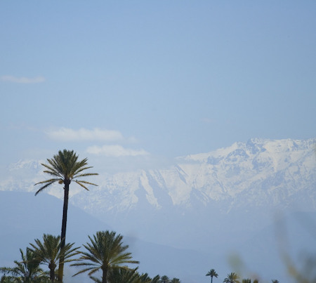 Atlas mountains seen from Marrakesh, Morocco